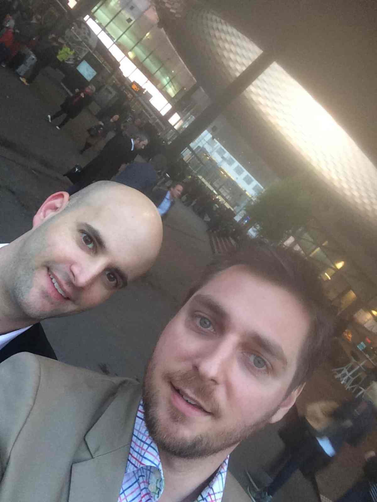 Blaise and I taking the obligatory group selfie at Basel...