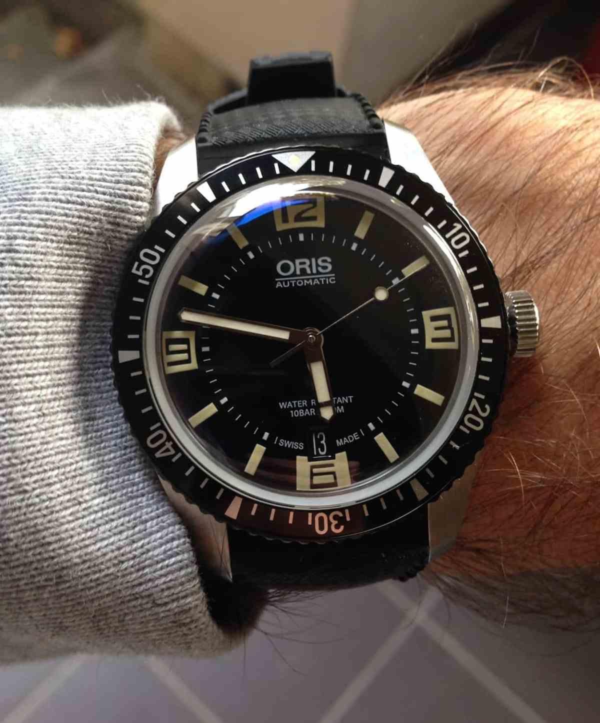 Oris Divers Sixty-Five wrist shot