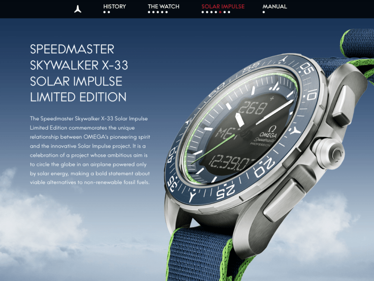 Speedy Tuesday - Omega Speedmaster Skylwalker X-33 Solar Impulse Limited Edition