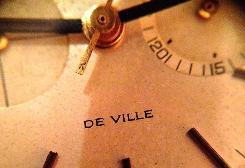 Lovely serifed font on the dial of this Omega