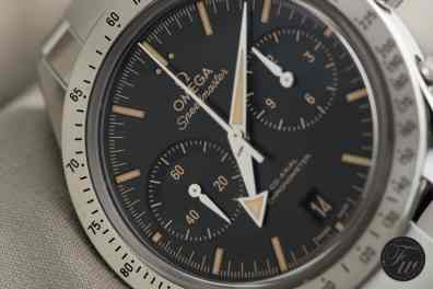 Omega Speedmaster '57 Faux-Patina and Broad Arrow hands