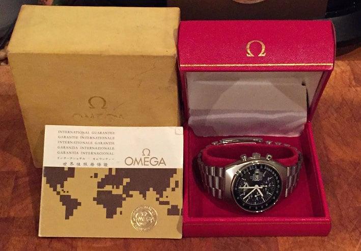 Full package of the Omega Speedmaster Mark 4.5