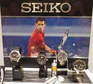 Djokovic was proudly featured throughout the Boutique