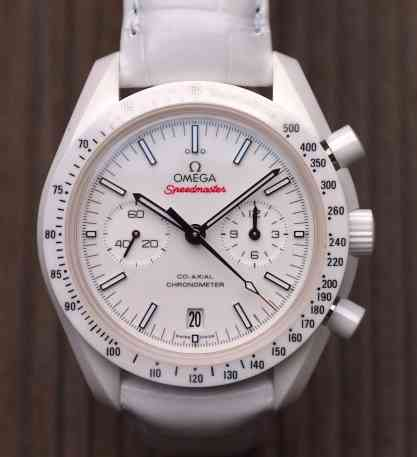 Speedmaster White Side of the Moon head on