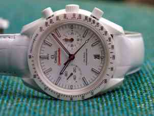 Speedmaster White Side of the Moon on its side
