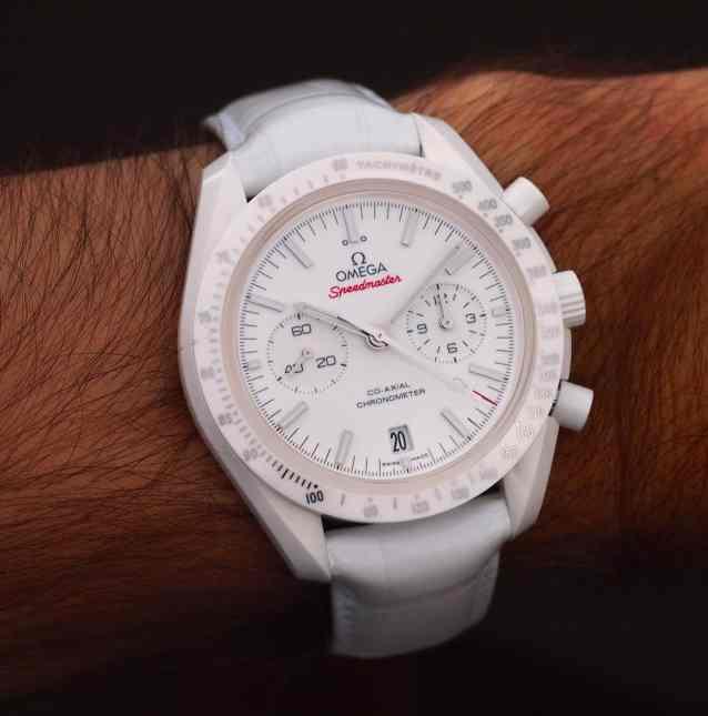 Speedmaster White Side of the Moon man's wrist