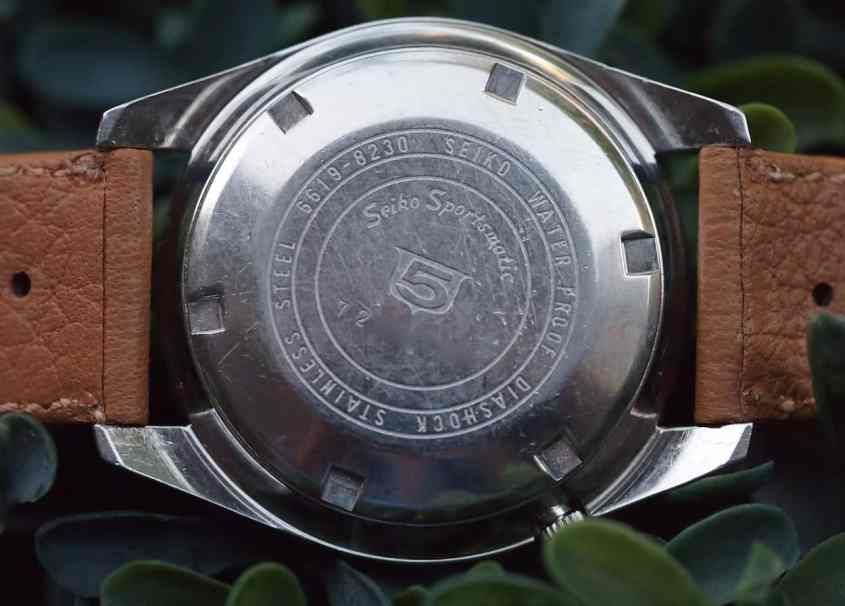Seiko Sportsmatic case back