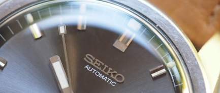 Seiko Sportsmatic applied logo