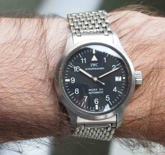 IWC Mark XII on the wrist