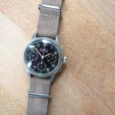 Benrus Sky Chief on a sand-colored NATO strap