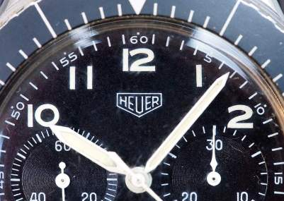The Heuer Bund dial is clear and the stuff of legends