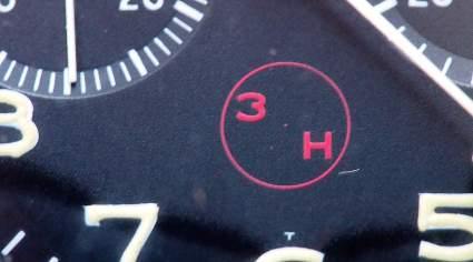 """The Heuer Bund 1550 SG """"3H"""" with small dot in the middle"""