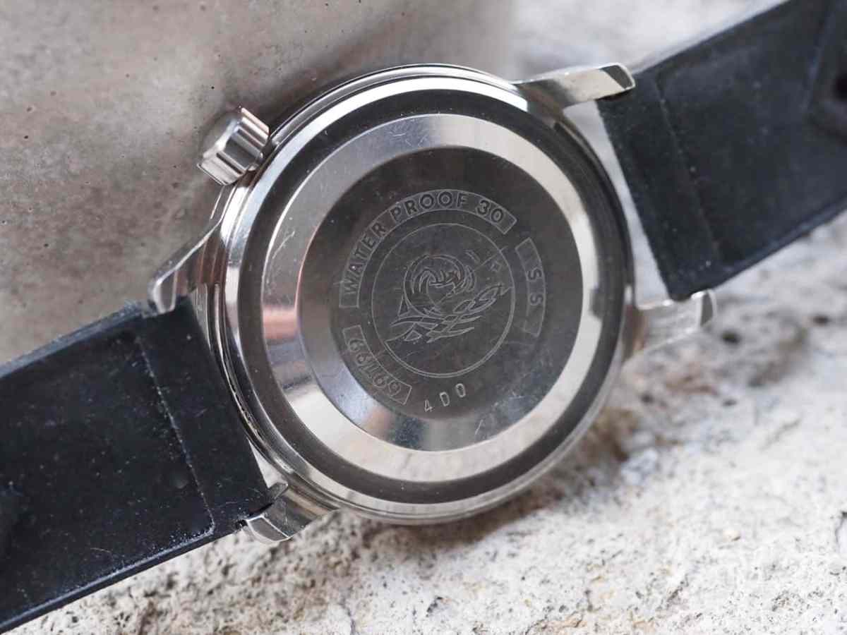 Caseback of the Seiko SilverWave
