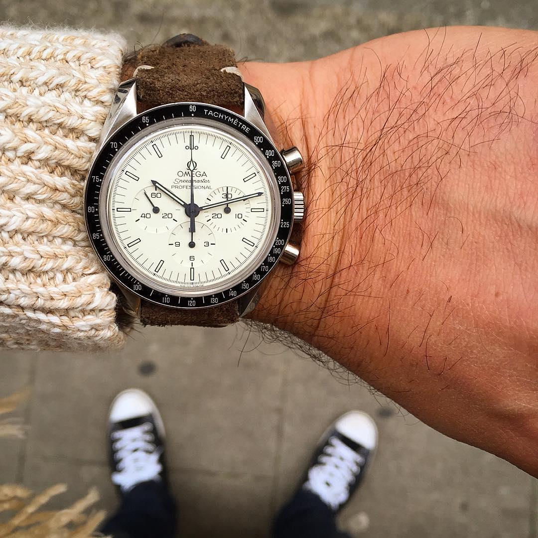 white dial Speedmaster