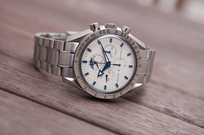 white dial Speedmaster Professional Moonphase