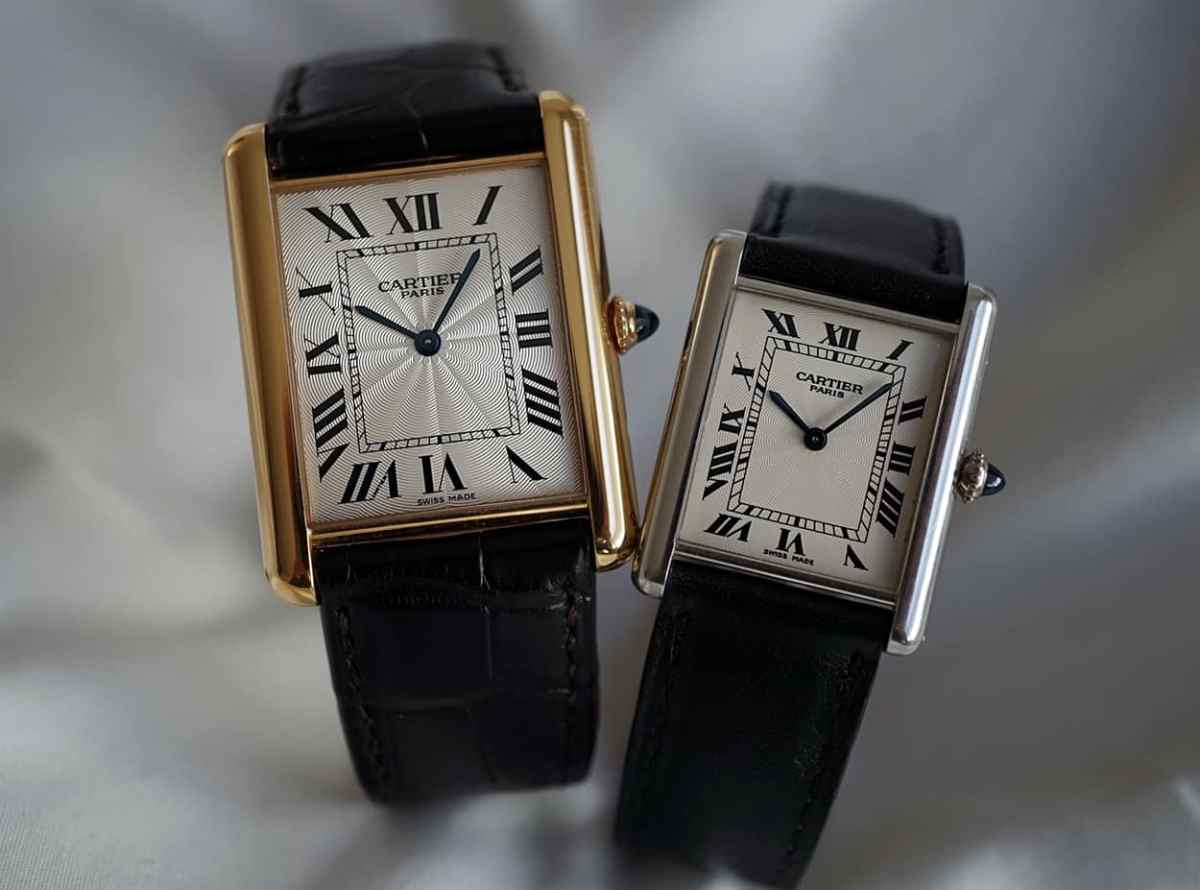 - Tank Louis Cartier XL and the version in original dimensions -