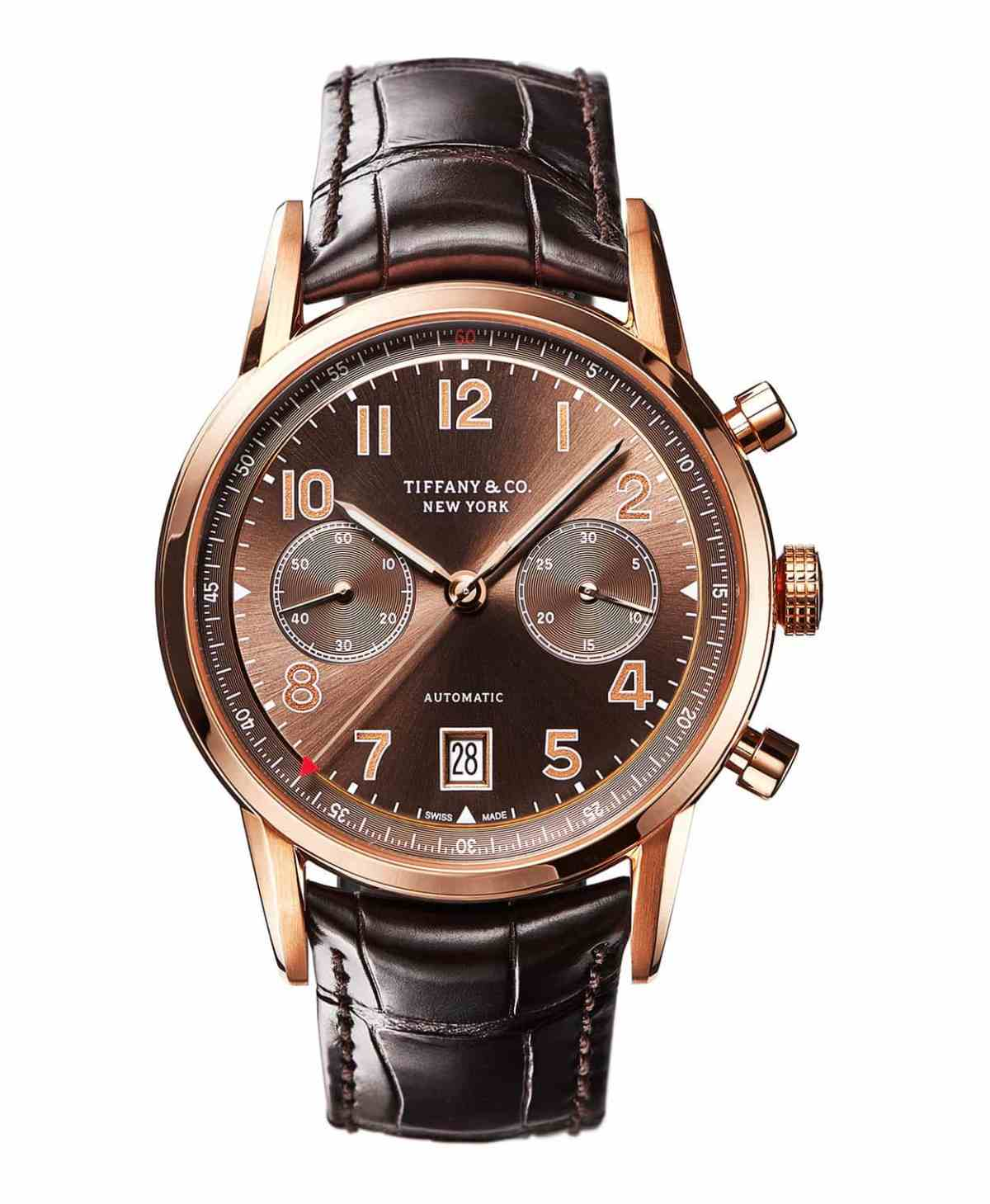 Tiffany CT60 Chronograph in rose gold