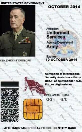 Fake DOC Gen. Joseph F. Dunford