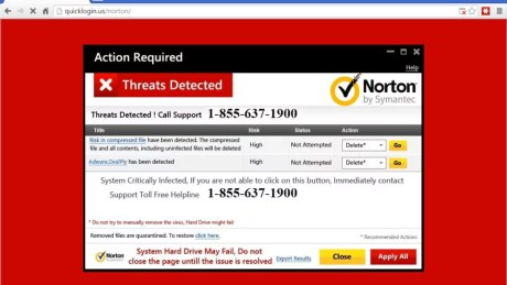 TECH SUPPORT SCAM norton_scam-900x506