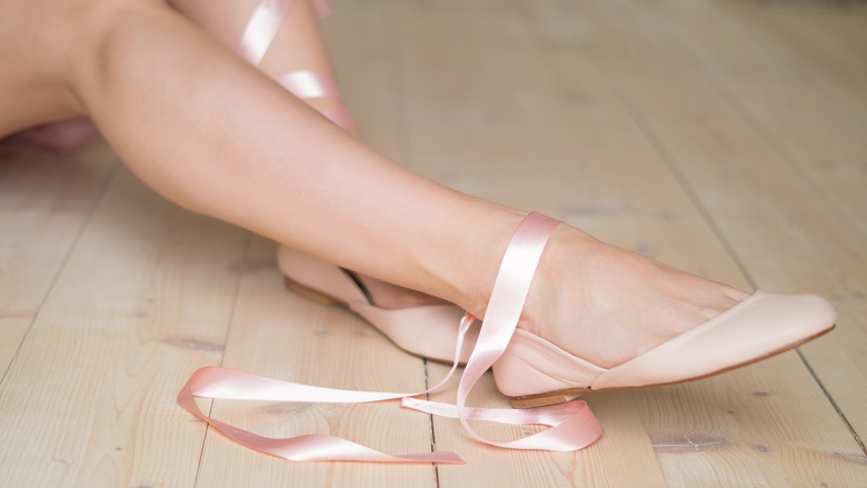 Nude Satin Ribbon Ballerinas - The White Ribbon by fraumau.de