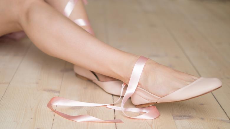 Nude Satin Ribbon Ballerinas - The White Ribbon by fraumau.de