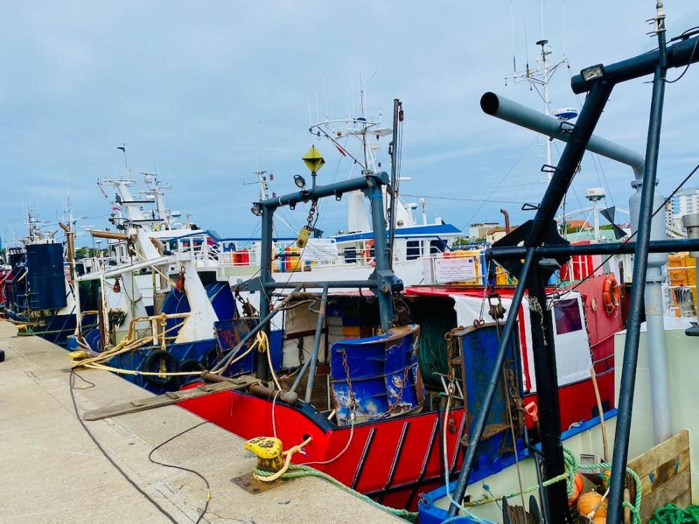 Fischerboote in Kolberg