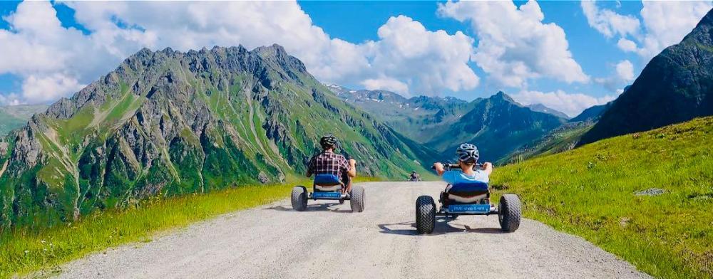 Thomas und Ben im Mountain Cart