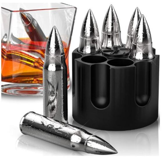 Bullet Shaped Metal Whiskey