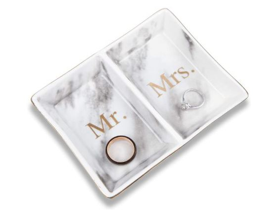 Mr & MRS ring dish jewelry plate
