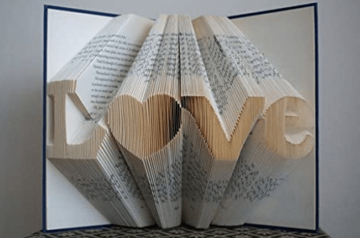 Folded book cover