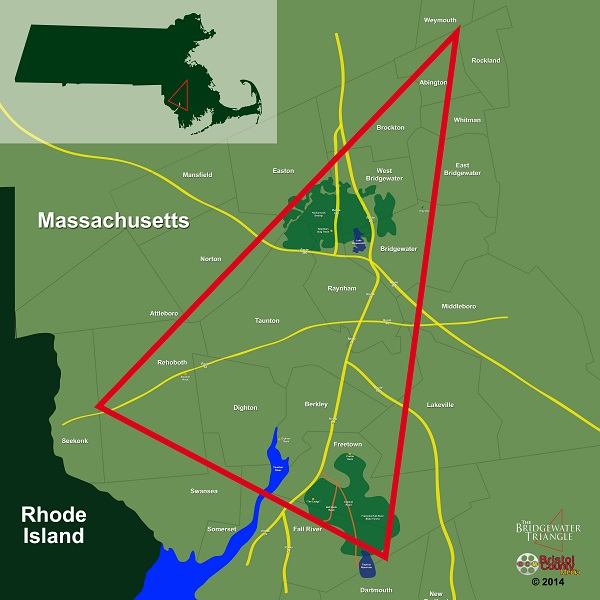 Bridgewater Triangle Map