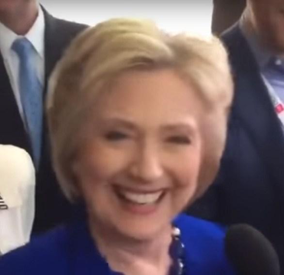 Hillarys eyes zoomed in