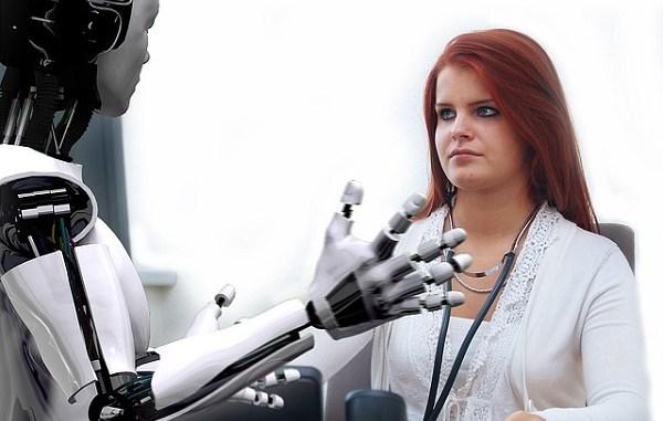 Robot and human doctor