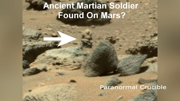 Alien stone solider statue spotted on Mars