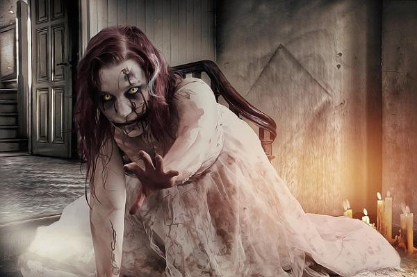Creepy possessed girl