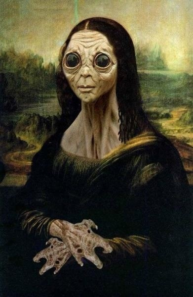 Mona Lisa alien painting