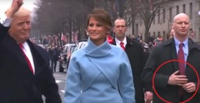 Trump inauguration alien reptilian bodyguard hands