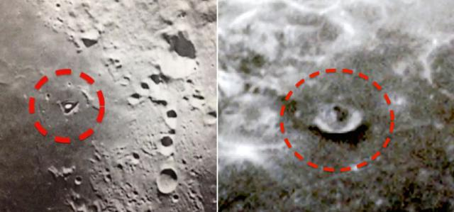 Alien base photos on the Moon