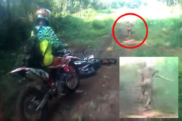 Indonesian dirt bike encounter with unknown mutant creature