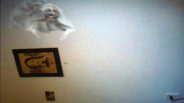ghost on wall