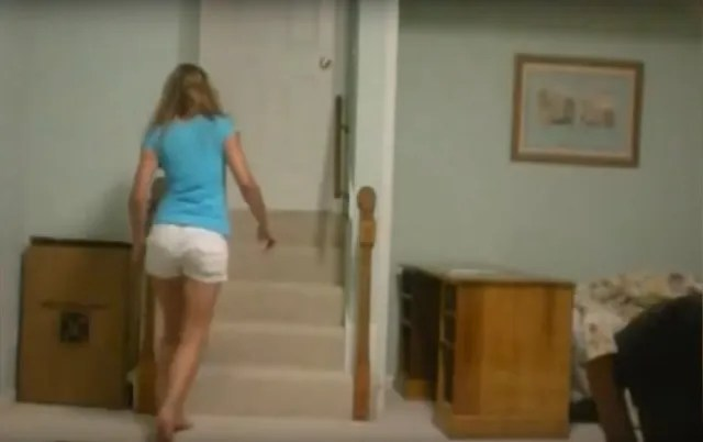 Girl has encounter with a staircase ghost