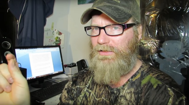 Todd Standing the Bigfoot hunter