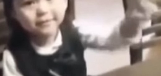 Young Japanese girl waves goodbye to the ghost of her uncle
