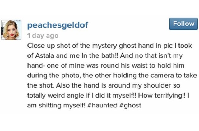 Peaches Geldof haunted ghost
