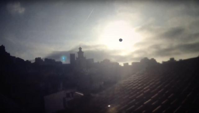 Strange sun flare recorded by webcam in Spain