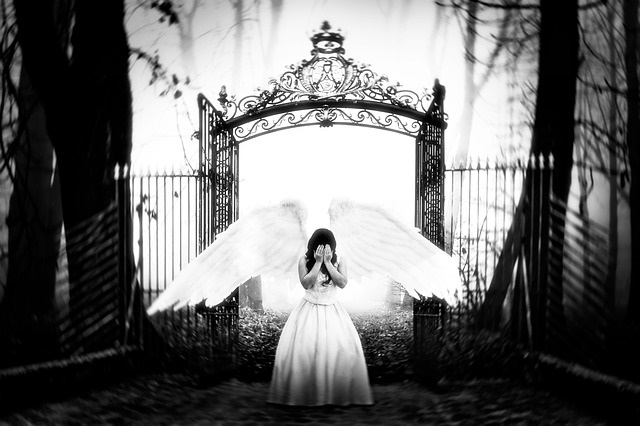 Angel at the gates