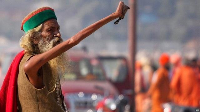 Amar Bharati arm raised outdoors