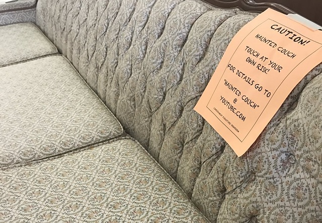 Cursed couch captures customers attention