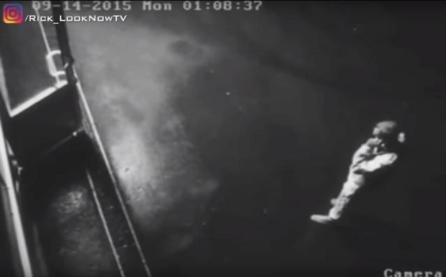 Dark force attacks man outside pub