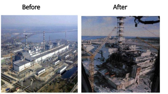 Chernobyl Disaster before and after